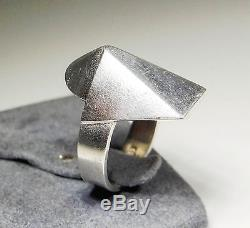 LAPPONIA VINTAGE RING 17.5 cm SILVER FINLAND 1980 MODERNIST SIZE 7.2 VI030