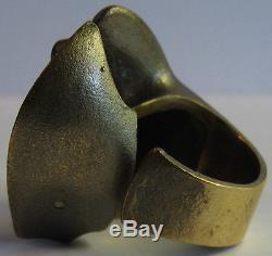Lapponia Björn Weckström Finland Vintage Bronze Sculptural Ring