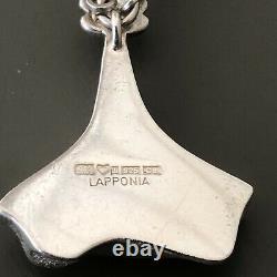 Lapponia Sterling Silver Mid Century Pendant Necklace Finland Bjorn Weckstrom