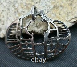 Large Else & Paul Sterling Silver Pendant, Modernist, Norway/norwegian