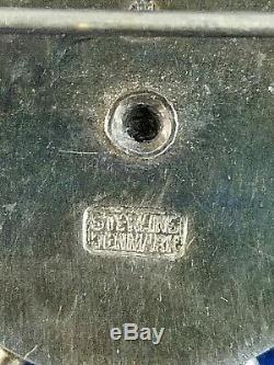 Large Vintage Anton Michelsen Denmark Sterling Silver Gilt Sputnik Pin Brooch