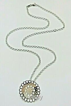 Liisa Vitali Finland Beautiful Sterling Silver Necklace Kehrä / Whorl NEW