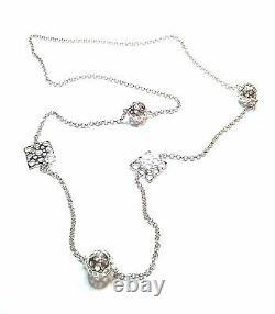 Liisa Vitali Finland Very Beautiful Long Sterling Silver Necklace
