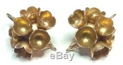 Liisa Vitali by Nils Westerback Finland 14k Gold Spring Earrings from 1971