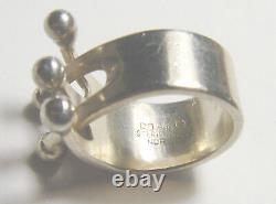 MID CENTURY Modernist STER. 925 ND Norway Design AGE Anita Greta Eker RING 3 3/4