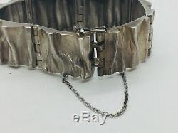 MJH Matti J Hyvarinen Sirokoru Finland Sterling Silver Modernist Bracelet