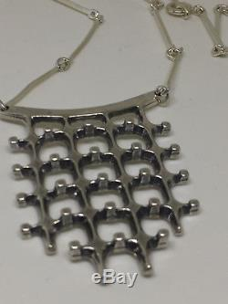 Marianne Berg for Uni DAvid Andersen Sterling Silver Necklace Norway Norwegian