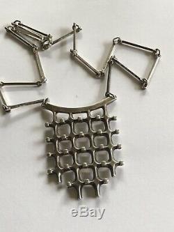 Marianne Berg for Uni David Andersen Sterling Silver necklace Norway Norwegian