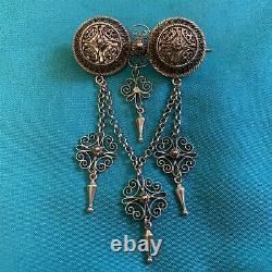 Marius Hammer 830 Silver Solje Wedding Brooch Pin