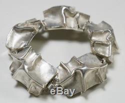 Matti Hyvarinen Vintage Finnish Modernist Sterling Silver Bracelet
