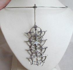 Mid Century Modern JUHLS Sterling Silver Brutalist Pendant/Necklace Norway