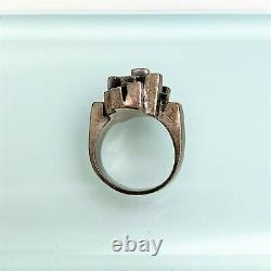 Mid Century Modernist Erik Granit & Co. Finnish Sterling Silver Ring, Size 5
