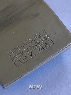 Millie Behrens David Andersen Sterling Silver Enamel Pendant Norway Norwegian
