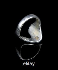 Modern Georg Jensen Sterling Silver Ring #A77B Denmark. Size 7.25