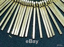 Modernist Anton Michelsen Denmark Sterling Silver Gold Gilt Matchstick Necklace