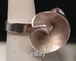 Modernist Brutalist Matti J Hyvarinen Of Finland MJH Sterling Ring Size 7