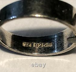 Modernist Elis Kauppi Kupittaan Kulta Sterling Silver Caged Sphere Ring Finland