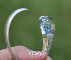 Modernist LAPPONIA Sterling Silver Acrylic Bracelet, Björn Weckström 70s
