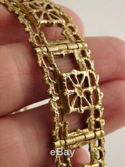 Modernist Pentti Sarpaneva Bronze Filigree Bracelet Finland Vintage Designer