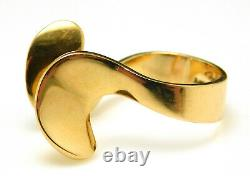 Modernist Rey Urban Fausing Denmark Abstract 750 18K Yellow Gold Ring