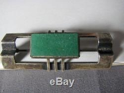 Modernist Sterling Silver Kupittaan Kulta Gemstone Gems Pin Brooch Vintage 60s