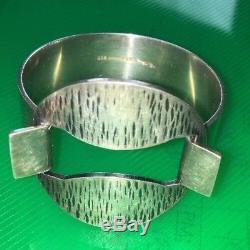 Modernist Vintage Danish Silver HANS HANSEN Bent Gabrielsen Cuff Bracelet Bangle
