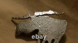 Moose'Elg' pin brooch Esther Slagsvold David Andersen Sterling Silver Norway