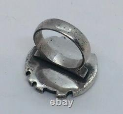 NE From Denmark Vintage Sterling Silver Modernist Ring Size 6