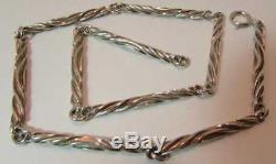 NIB Hans Hansen for Georg Jensen Sterling Silver Link Necklace 18 29.2g