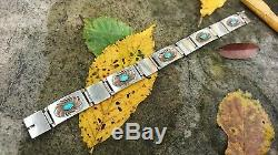 NRVintage Georg Jensen Sterling Silver Turquoise Bracelet #56A Early Marks