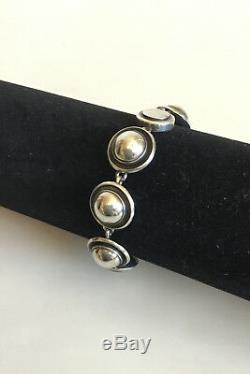 N. E. From Sterling Silver Bracelet with silver stones