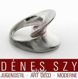 Nanna Ditzel jewelry design Georg Jensen handmade silver ring 93 space age