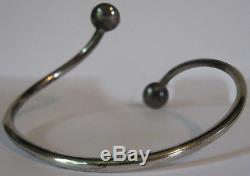 Ne From Denmark Vintage Tigereye & Sterling Silver Modernist Bracelet