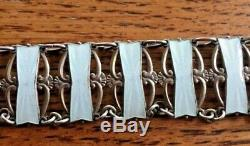Necklace Norwegian White Enamel 830 S Sterling by Ivar T. Holth 15.25 Beautiful