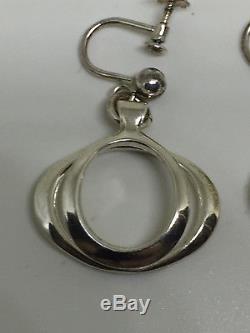 Never used David Andersen Sterling Silver earrings Norway Norwegian