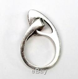Niels Erik From Sterling Silver Abstract Modernist Ring, Size 6 1/2