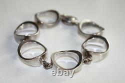 Niels Erik NE FROM Denmark Scandinavian Sterling Silver 925s Modernist Bracelet