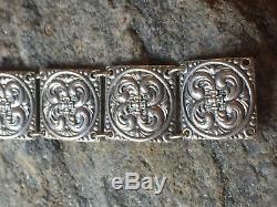 Nils Elvik 830s Silver bracelet Norway Norwegian