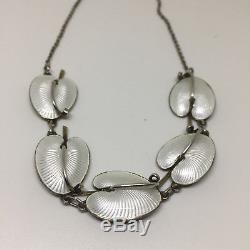 Nils Elvik Sterling Silver Enamel necklace Norway Norwegian