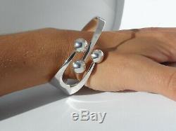 Norway Vintage Modernist Anna Greta Eker 925 Sterling Silver Jester Bracelet