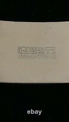 Norwegian Norway David -Andersen 925S / Enamel Blue White 7 1/2 Bracelet