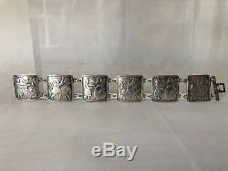Norwegian Norway David-andersen 925s Fairy Tale Link Bracelet Vintage