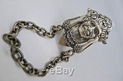 Norwegian Norway Modernist J. Mejda Trondheim 830 Silver Master Chatelaine Hook