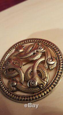 Old Norwegian 830s Huge 6 cm Viking / celtic brooch / pendant Norway