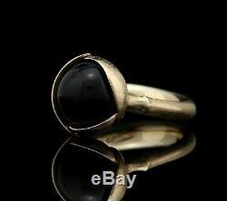 Ole Lynggaard Lotus Ring 18K Gold & Black Onyx A1003