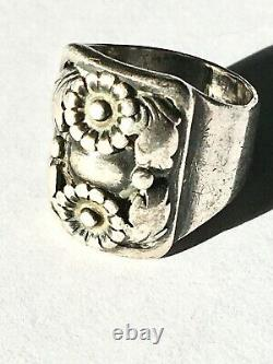 One of a kind Denmark Danish sterling silver ring early Erik From modernist sz 6