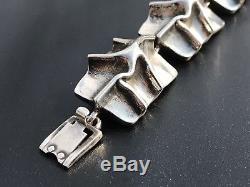 Original Matti J Hyvarinen 925 Sterling Silver Bracelet Finish Modernist Design