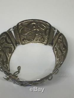 Oystein Balle Iconic Bracelet Sterling Silver Enamel Norway Norwegian