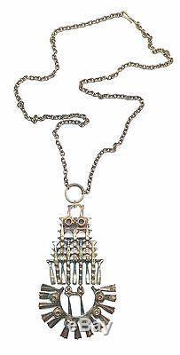 Pentti Sarpaneva Finland Vintage Bronze Brutalist Pendant Necklace 3035 Big