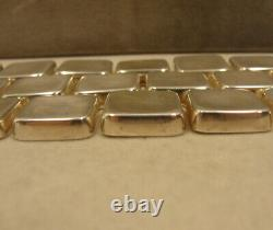 Phenomenal Sterling Silver Modernist Georg Jensen Astrid Fog Tile Bracelet